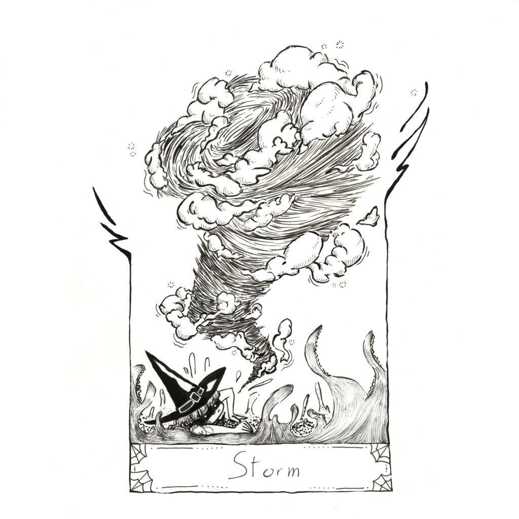 Inktober 2020 jour 17 - Storm