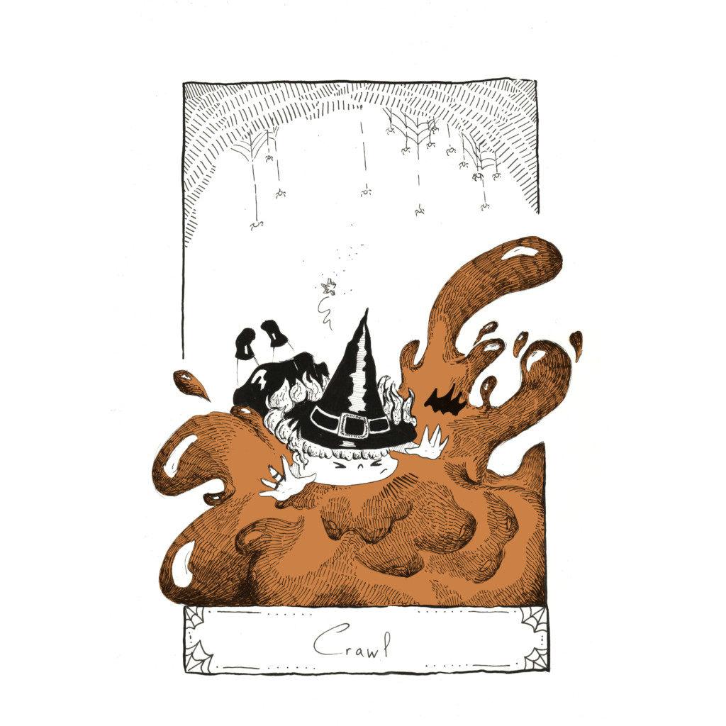 Inktober 2020 jour - Crawl
