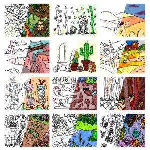 Livret de coloriages - Voyages - thèmes