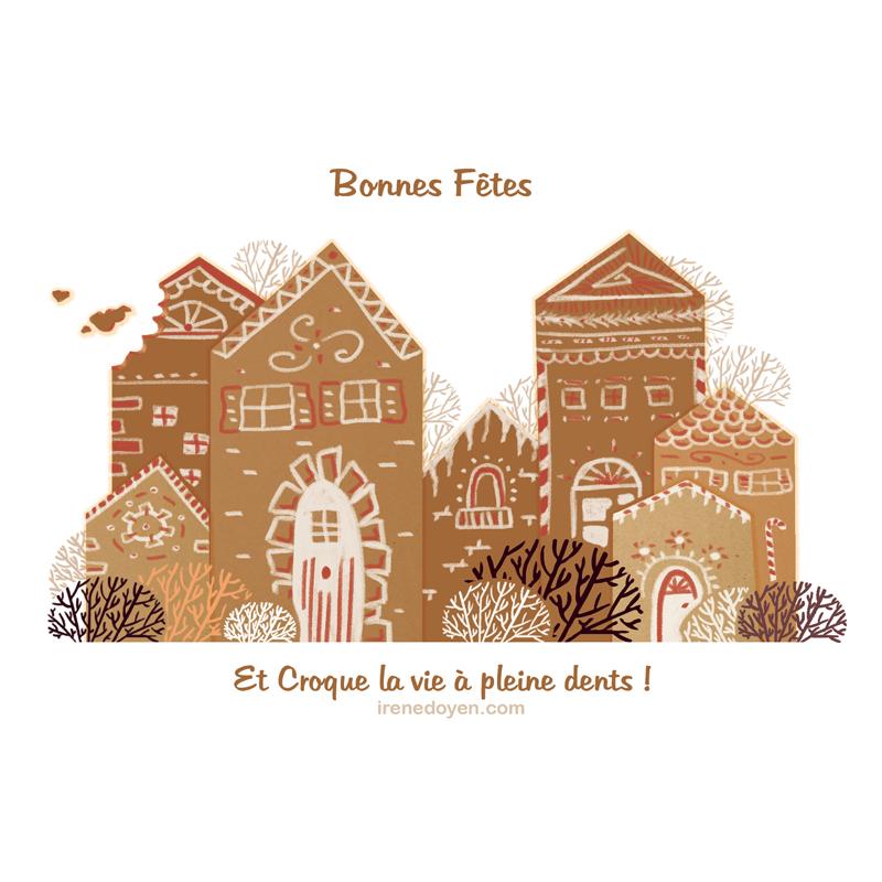 carte de vœux pain d'épice